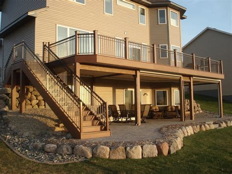 Two Story Deck Ideas by Two Story Deck Construction