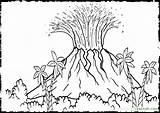 Volcano Coloring Hawaii Drawing Printable Island Colour Vulcano Sheet Sheets Landscape Colouring Volcanoes Eruption Dinosaur Hawaiian Mclaren Coloriage Biology Getdrawings sketch template