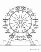 Coloring Ferris Wheel Related sketch template