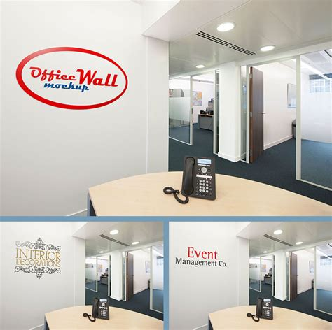 free office free indoor outdoor office wall sign mockup psd files