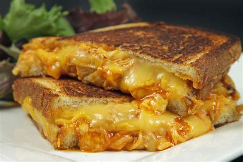 Buffalo Chicken Grilled Cheese Sandwich And Stuffed