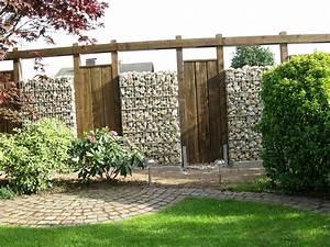 Gartengestaltung Mit Holz : helles gabionen holz ensemble haufler baumschule und gartengestaltung ~ One.caynefoto.club Haus und Dekorationen