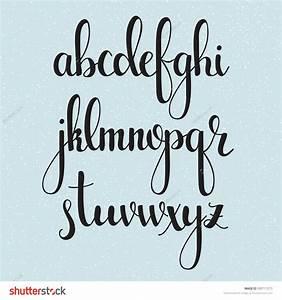 Handwritten brush style modern calligraphy cursive font ...