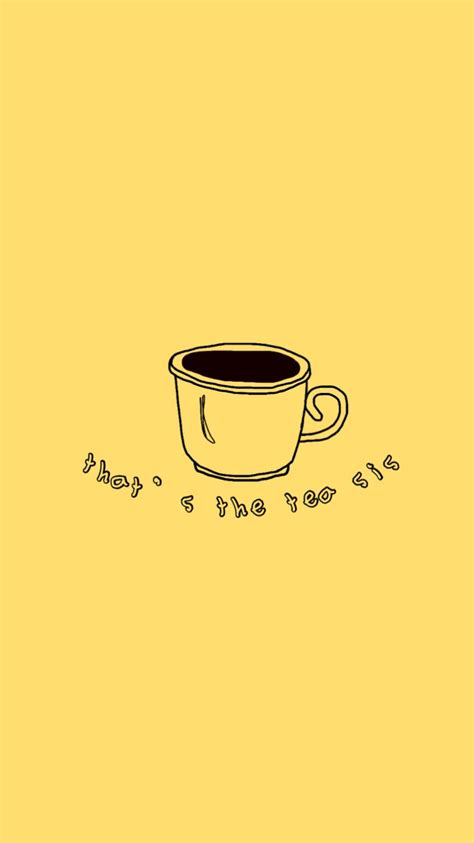 yellow aesthetic tea yellow aesthetic pastel