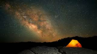 Glowing Tent Under a N...Camping Night Stars