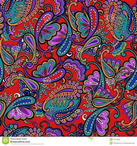 Ornate Paisley Print Stock Photography - Image: 12771982