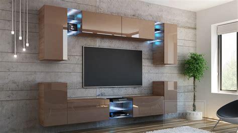 Platz für den flachbildfernseher, variablen stauraum und eine stimmungsvolle beleuchtung. KAUFEXPERT - Wohnwand Splash Cappuccino Hochglanz/ Sonoma ...