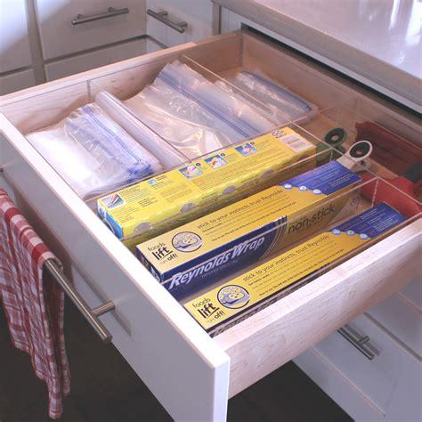 kitchen wrap organizer storage image gallery custom acrylic drawer organizers 6580