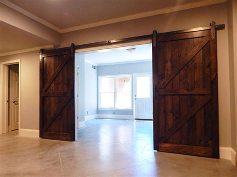 classic double  brace plank barn door