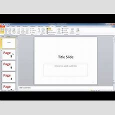 Add Page Numbers In Powerpoint Slides And Notes Pages Youtube