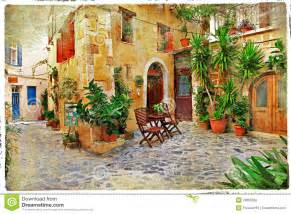 mediterranean home plans with photos streets of greece crete stock photography image