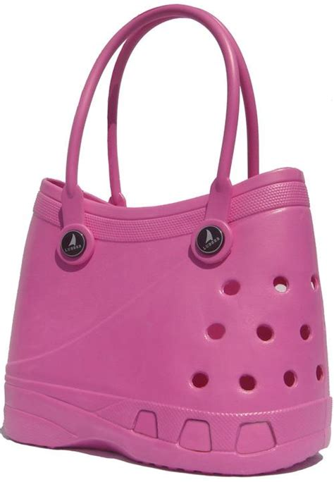 handbags bags lubber tote rubber croc waterproof beach