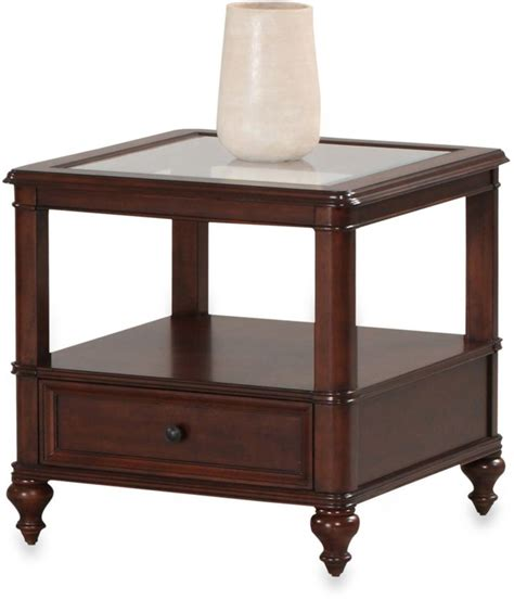 bed bath and beyond side table bed bath beyond klaussner kinston end table in cherry