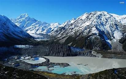 Zealand Cook Mount Nature National Snow Wallpapers