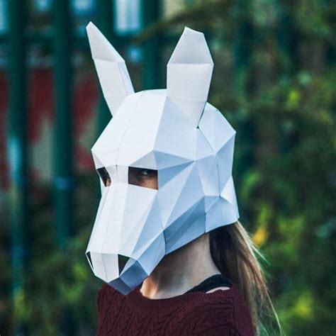 paper donkey halloween mask papercraft template printable