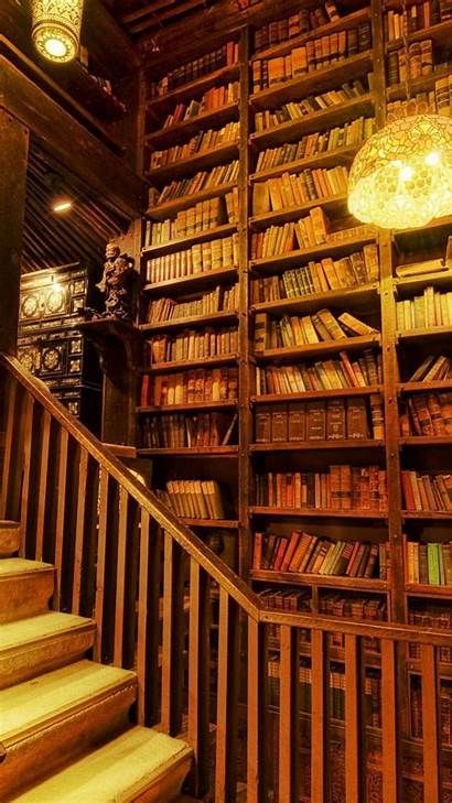 Library Awesome Wooden Staircase Wallpapers Parallax Iphone