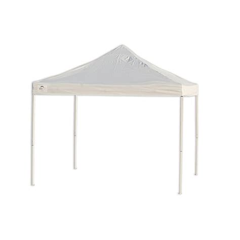 shelterlogic pro series  ft   ft white straight leg truss top pop  canopy