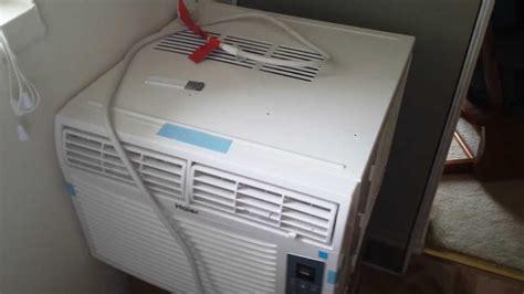 installed  standard window air conditioner   casement slider window youtube
