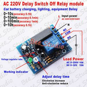 ac 220v 230v 240v timer delay turn on switch time relay module car ebay