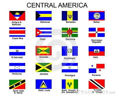 flags  central america countries royalty  stock