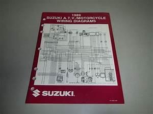 Find 1989 Suzuki Atv Motorcycle Wiring Diagrams Book Manual 99923