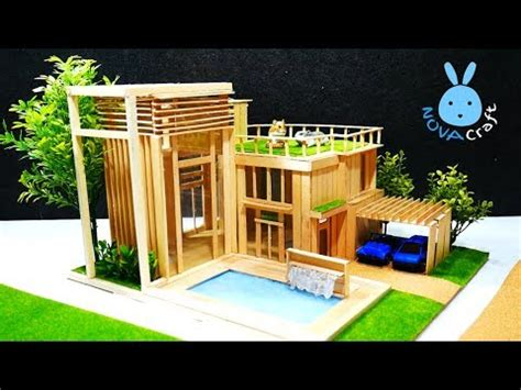 popsicle sticks house dreamhouse architecture youtube
