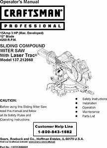 Craftsman 137212060 User Manual Saw Manuals And Guides