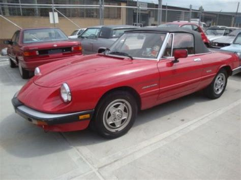 Find Used 1987 Alfa Romeo Spyder Veloce 76k Mint Condition