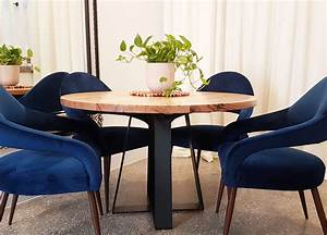Solid, Victorian, Ash, Round, Dining, Table, With, Black, Cross, Leg, Design, U2013, Footprint, Furniture, Store