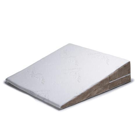wedge pillows for bed jaxx avana bed wedge memory foam pillow ebay
