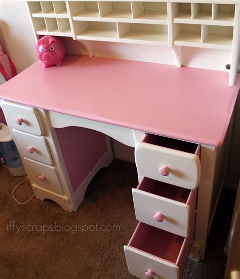 Diy Diva Lil Pink & White Desk Refinished. Industrial Bed. Tie Drawer. Turquoise Dining Chair. Outdoor Wall Lighting. Chandilier. Wooden Couch. Unique Wall Shelves. Victorian Mirror
