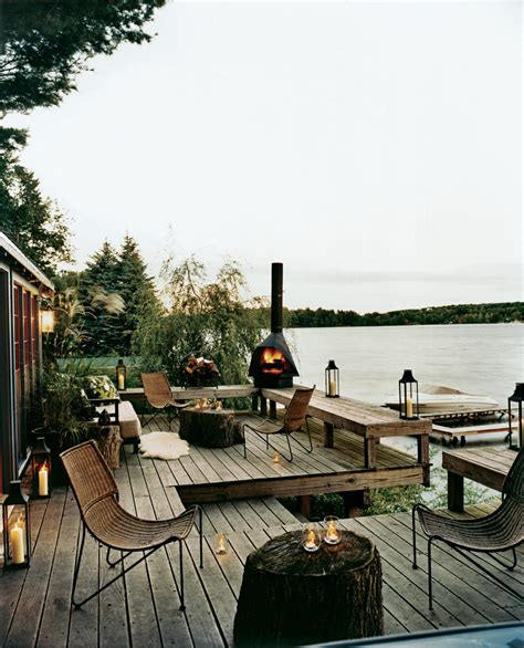 rustic lake house decor exterior rustic with exposed beams