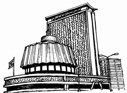 Government Building Coloring Mantralaya Pages Mumbai Printable