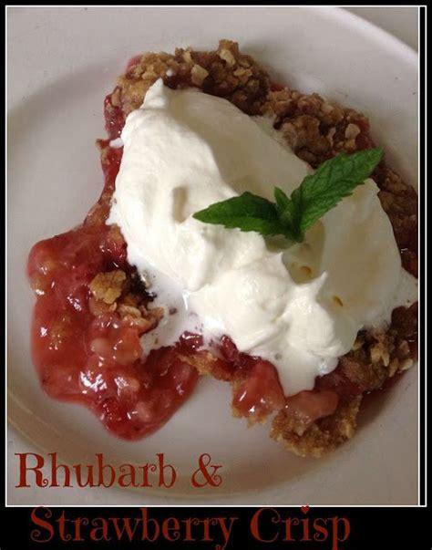 strawberry rhubarb crisp recipe easy recipes the o
