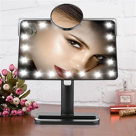 makeup light mirror 10x magnifying touch led light illuminated make up makeup