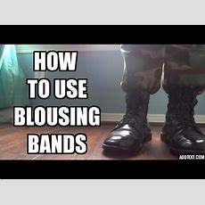 How To Use Blousing Bands Youtube
