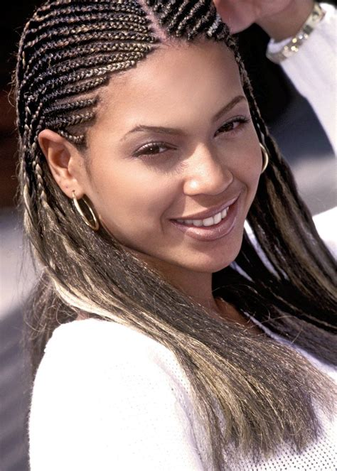 90s American Hairstyles by Beyonce Braids Cornrows Medium