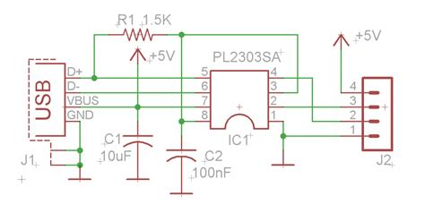 Usb Serial Converter Using Plsa Electronics Lab