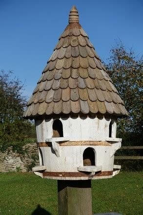 large  dovecote birdhouse large hole  cooped