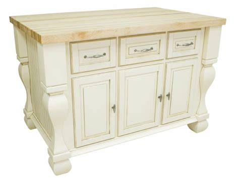 kitchen island antique white finish ebay