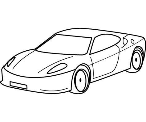 cartoon car black and white drawing sports car coloring child coloring