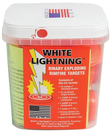tannerite wlk white lightning  rimfire exploding targets  pack case
