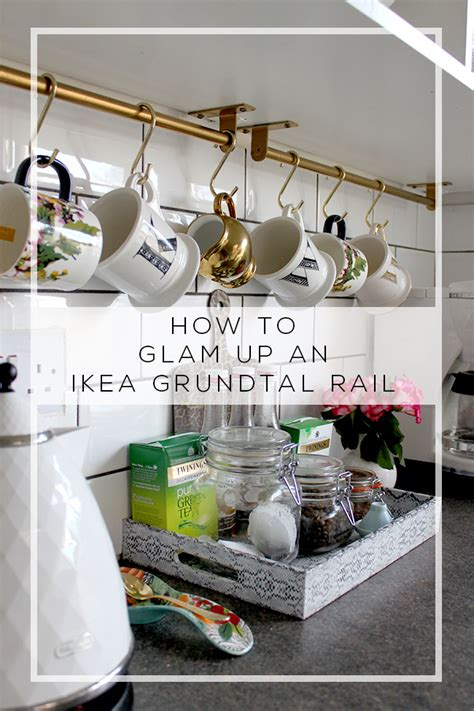 kitchen rail storage how to glam up an ikea grundtal rail swoon worthy 2478