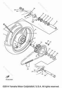 Yamaha Motorcycle 2000 Oem Parts Diagram For Rear Wheel