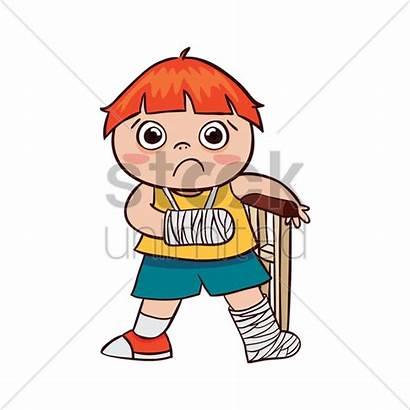 Broken Arm Leg Boy Cartoon Hurt Clipart