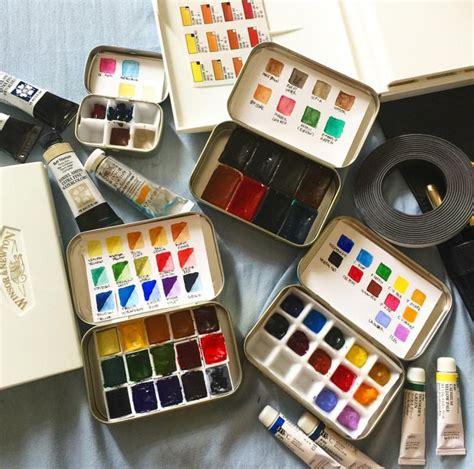 watercolour paints art materials art art hoe aesthetic