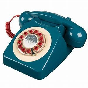 Telephone Filaire Retro : telephone vintage bleu p trole wild wolf ~ Teatrodelosmanantiales.com Idées de Décoration
