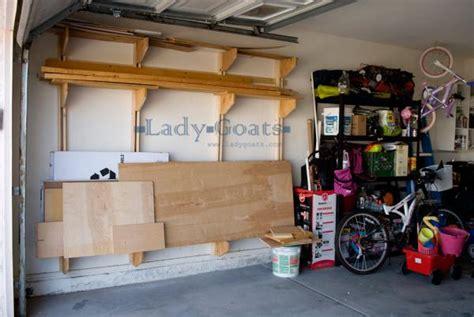 wall mounted garage shelving diy 35 diy garage storage ideas to help you reinvent your