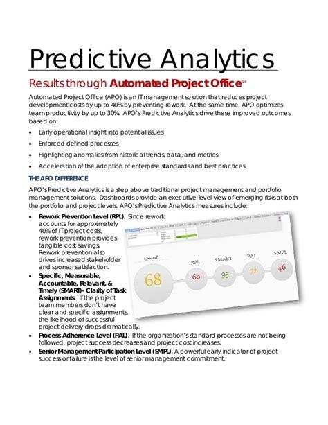 apo predictive analytics