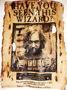 Sirius Black Have You Seen This Wizard Wanted Poster 6x11 ...
